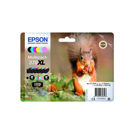Epson 378XL T3798 Original Ink Cartridge Multipack BK/C/M/Y/LC/LM