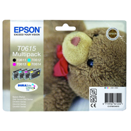Epson T0615 Multipack Ink Cartridges BK/C/M/Y Original