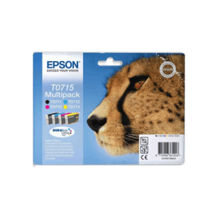 Epson T0715 Multipack Ink Cartridges BK/C/M/Y Original