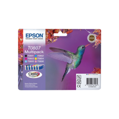 Epson T0807 (T0801-T0806) Original Ink Cartridge Multipack BK/C/M/Y/LC/LM