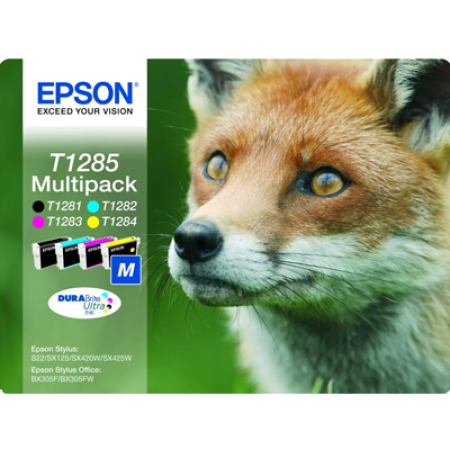 Epson T1285 Multipack (T1281-T1284) Original Ink Cartridges BK/C/M/Y
