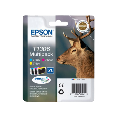 Epson T1306 Multipack (T1302-T1304) Colour Ink Cartridges C/M/Y Original