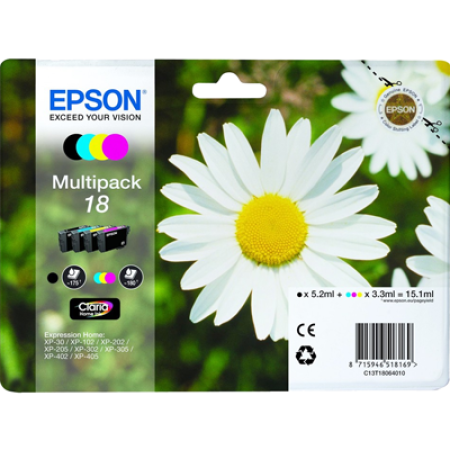 Epson T1806 Multipack Ink Cartridges BK/C/M/Y Original