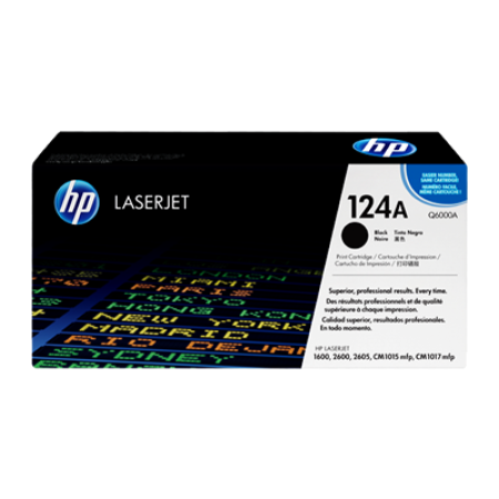 HP 124A Q6000A Black Toner Cartridge
