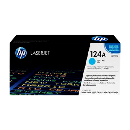 HP 124A Q6001A Cyan Toner Cartridge