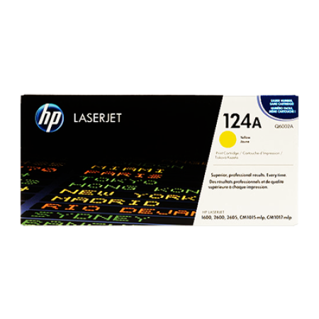 HP 124A Q6002A Yellow Toner Cartridge