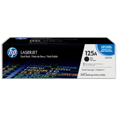 HP 125A CB540AD Black Toner Cartridge Twin Pack