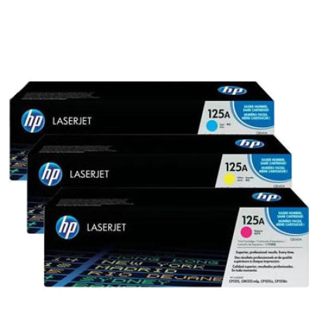 HP 125A CF373AM Toner Cartridge Colour Pack - 3 Toners