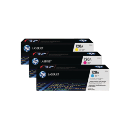 HP 128A Toner Cartridge Colour Multipack - 3 Toners - CF371AM
