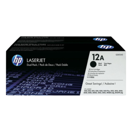 HP 12A Q2612AD Toner Cartridge Twin Pack Black Original