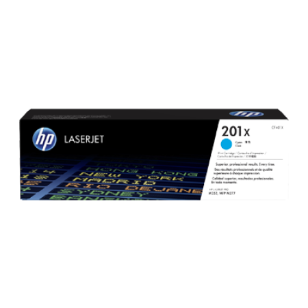 HP 201X CF401X Toner Cartridge Cyan Original