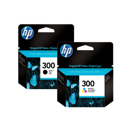HP 300 Black + Colour Original Ink Cartridge Multipack