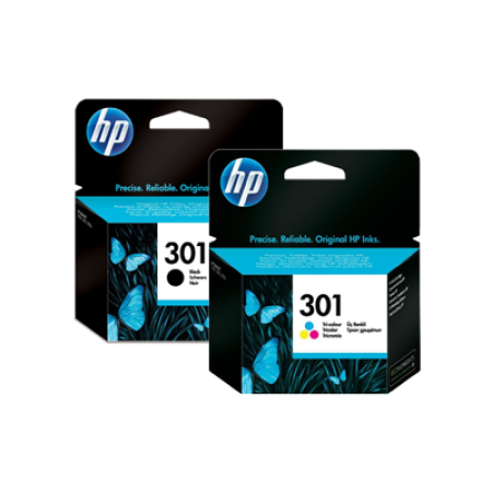 HP 301 Black + Colour Multipack Ink Cartridges BK/C/M/Y Original