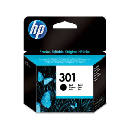 HP 301 Ink Cartridge Black Original 3ml