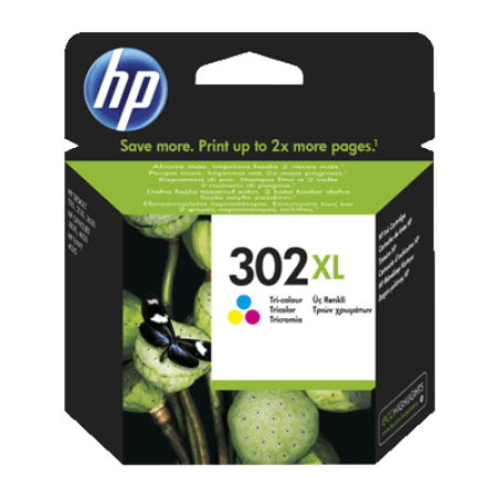 HP 302XL Ink Cartridge Colour Original C/M/Y