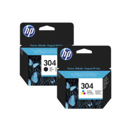 HP 304 Multipack Ink Cartridge Black + Colour Original BK/C/M/Y