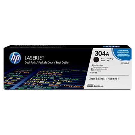 HP 304A CC530AD Dual Multipack Original Toner Cartridge