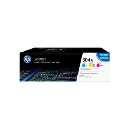 HP 304A CC531/2/3A Original Toner Cartridge Colour Multipack C/M/Y