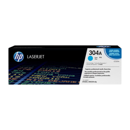 HP 304A CC531A Toner Cartridge Original Cyan