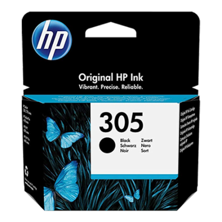 HP 305 Ink Cartridge Black Original
