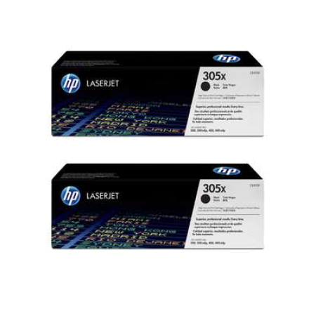 HP 305X CE410XD Black High Capacity Toner Cartridge Twin Pack