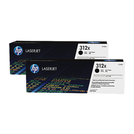 HP 312X CF380XD Black Toner Cartridge TWINPACK