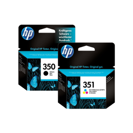 HP 350 + 351 Standard Capacity Black + Colour Ink Cartridge Multipack