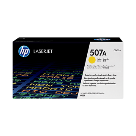HP 507A CE402A Yellow Toner Cartridge