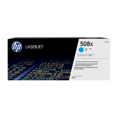 HP 508X CF361X High Capacity Cyan Toner Cartridge