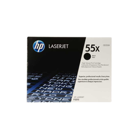 HP 55X CE255X High Capacity Black Toner Cartridge