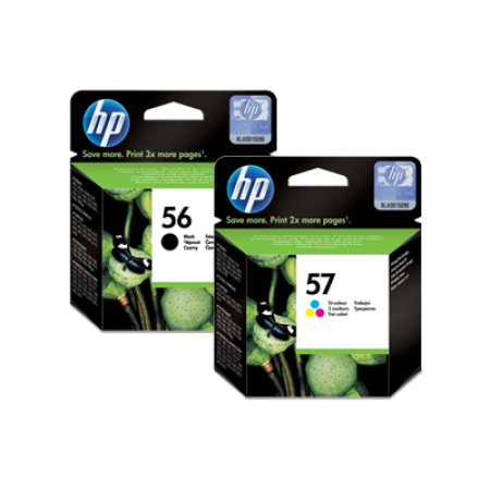HP 56/57 Black + Colour Original Ink Cartridge Multipack