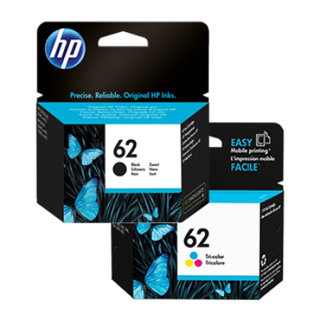 HP 62 Multipack Black + Colour Ink Cartridges BK/C/M/Y Original