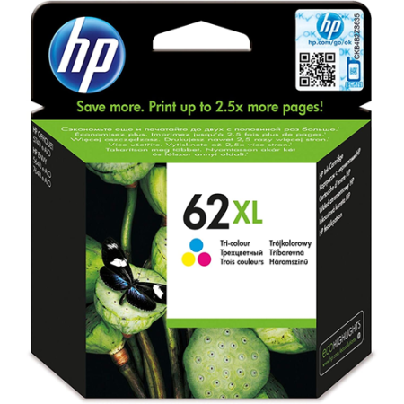 HP 62XL Ink Cartridge Colour