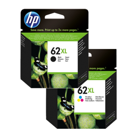 HP 62XL Multipack Black + Colour Original Ink Cartridges BK/C/M/Y