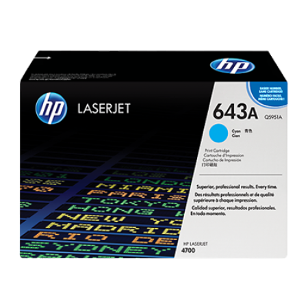 HP 643A Q5951A Cyan Toner Cartridge