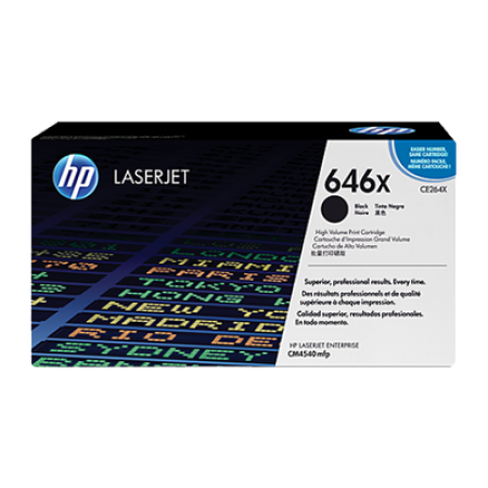 HP 646X CE264X Toner Cartridge Black High Capacity Original