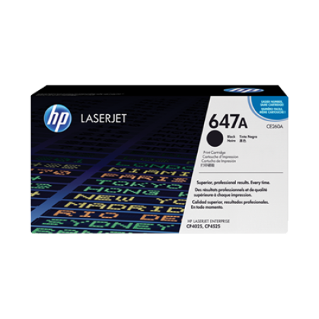 HP 647A CE260A Toner Cartridge Black Original