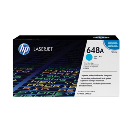 HP 648A CE261A Toner Cartridge Cyan Original