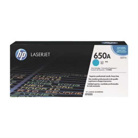 HP 650A CE271A Cyan Toner Cartridge