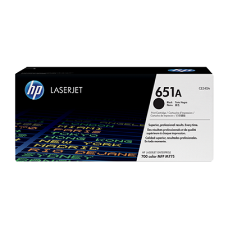 HP 651A CE340A Black Toner Cartridge