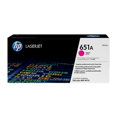 HP 651A CE343A Magenta Toner Cartridge
