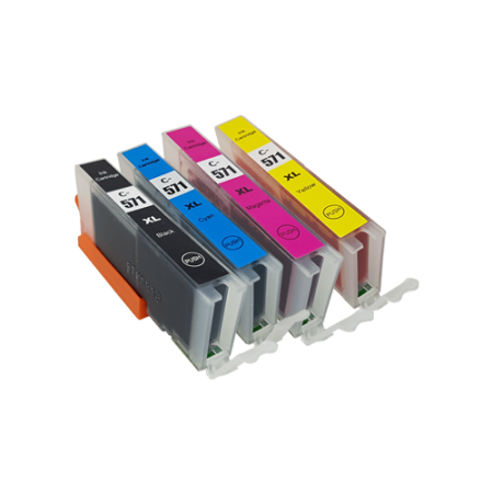 Compatible Canon CLI-571XL Ink Cartridge Multipack PBK/C/M/Y