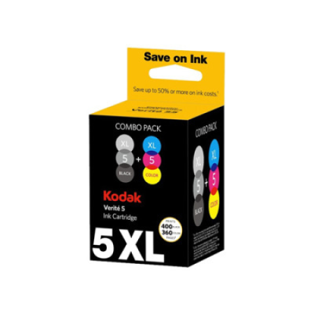 Kodak 5XL Black + Colour Original Ink Cartridge Multipack AL11UK
