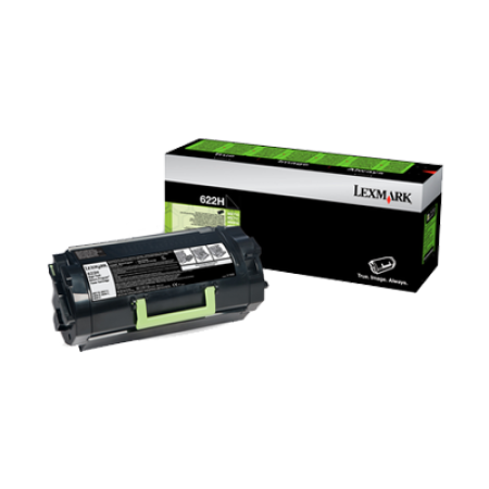 Lexmark 622H Black High Capacity Toner Cartridge