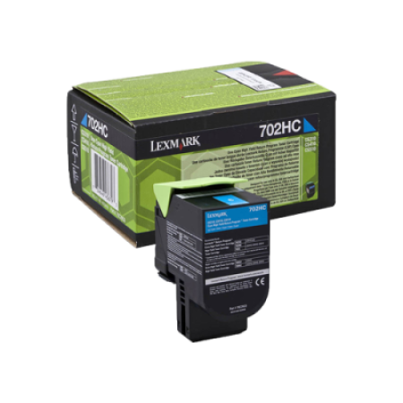 Lexmark 702HC Cyan High Capacity Return Toner Cartridge