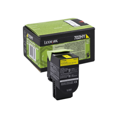 Lexmark 702HY Yellow High Capacity Return Toner Cartridge