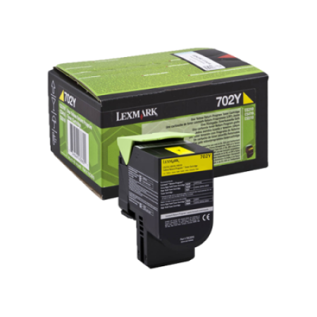 Lexmark 702Y Yellow Return Toner Cartridge