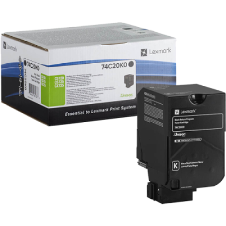 Lexmark 74C20K0 Black Return Toner Cartridge