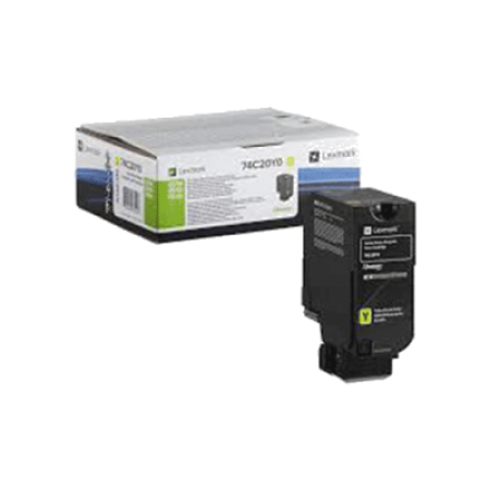 Lexmark 74C2SY0 Yellow Return Toner Cartridge