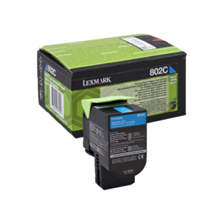 Lexmark 802C Cyan Return Program Toner Cartridge (1K)